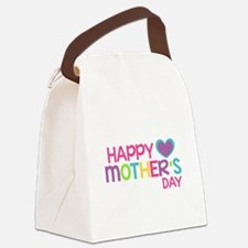 Happy Mother's Day Pink Canvas Lunch Bag