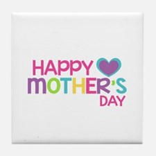 Happy Mother's Day Pink Tile Coaster