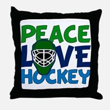 Love Hockey Throw Pillow