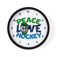 Love Hockey Wall Clock
