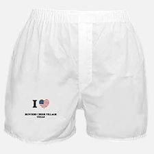 I love Hunters Creek Village Texas Boxer Shorts
