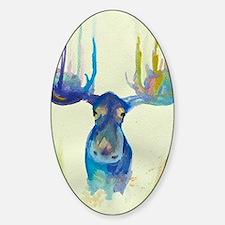 Cute Moose Sticker (Oval)