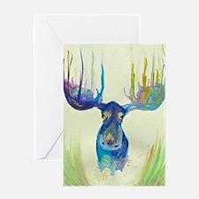 Cute Moose Greeting Card