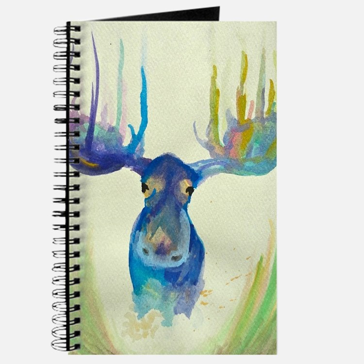Cute Moose illustration Journal
