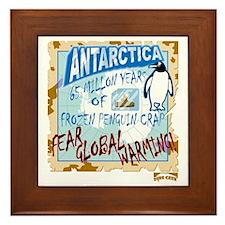 Cute Antarctica Framed Tile