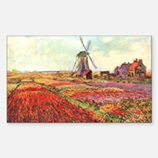 Tulips of Holland by Monet Rectangle Decal