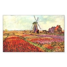 Tulips of Holland by Monet Rectangle Stickers
