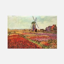 Tulips of Holland by Monet Rectangle Magnet