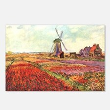 Tulips of Holland by Monet Postcards-Pkg of 8