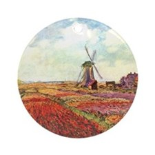 Tulips of Holland by Monet Ornament (Round)