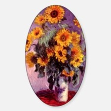 Sunflowers by Monet Oval Decal