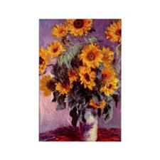 Sunflowers by Monet Rectangle Magnet
