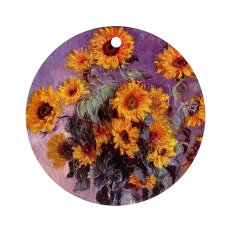 Sunflowers by Monet Ornament (Round)