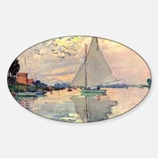 Sailing Ship by Monet Oval Decal