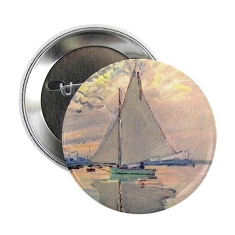 "Sailing Ship by Monet 2.25"" Button (100 pack)"