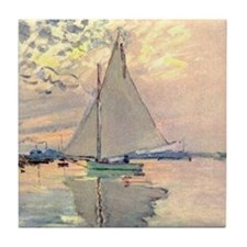 Sailing Ship by Monet Tile Coaster