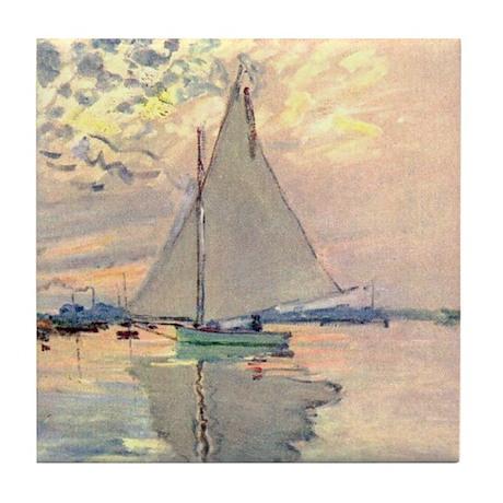 Sailing Ship by Monet Tile Coaster