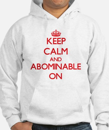 Keep Calm and Abominable ON Jumper Hoody