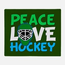 Green Hockey Throw Blanket