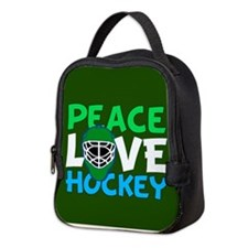 Green Hockey Neoprene Lunch Bag