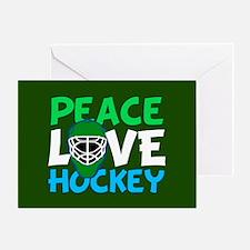 Green Hockey Greeting Card