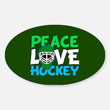 Green Hockey Sticker (Oval)
