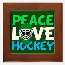 Green Hockey Framed Tile