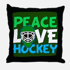 Green Hockey Throw Pillow