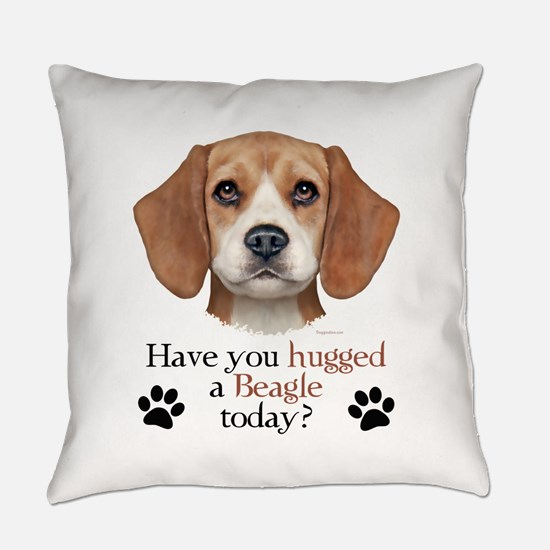 Beagle Hug Everyday Pillow