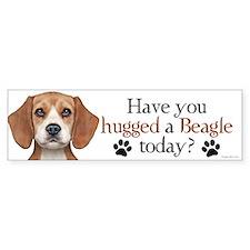 Beagle Hug Bumper Sticker