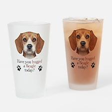 Beagle Hug Drinking Glass