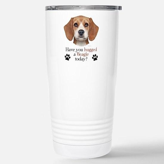 Beagle Hug Stainless Steel Travel Mug