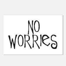 no worries Postcards (Package of 8)