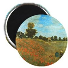 Poppies by Monet Magnet