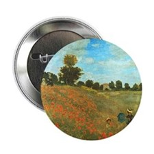 """Poppies by Monet 2.25"""" Button (100 pack)"""