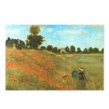 Poppies by Monet Postcards (Package of 8)