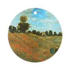 Poppies by Monet Ornament (Round)