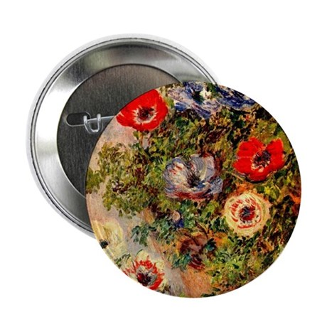 """Anemone by Monet 2.25"""" Button (10 pack)"""