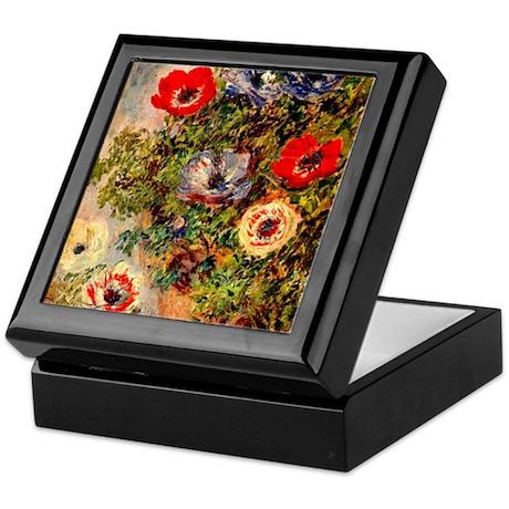Anemone by Monet Keepsake Box