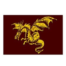Gold Dragon on Maroon Postcards (Package of 8)