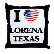 I love Lorena Texas Throw Pillow