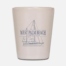 West Palm Beach - Shot Glass