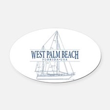 West Palm Beach - Oval Car Magnet