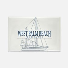 West Palm Beach - Rectangle Magnet