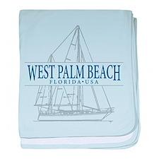 West Palm Beach - baby blanket