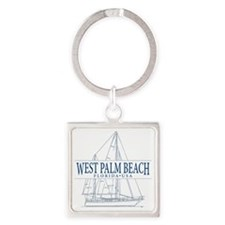 West Palm Beach - Square Keychain