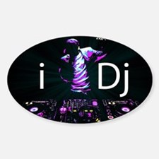 Cute Dj Sticker (Oval)
