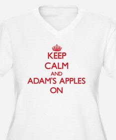Keep Calm and Adam'S Apples ON Plus Size T-Shirt