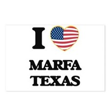 I love Marfa Texas Postcards (Package of 8)