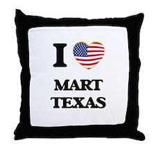 I love Mart Texas Throw Pillow